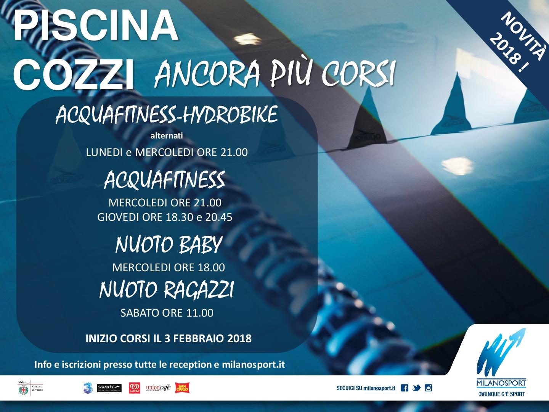 Milanosport gli impianti cozzi - Piscina cozzi orari ...