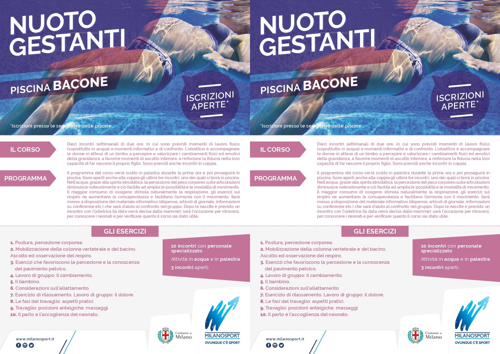 Calendario Lunare Gravidanza 2020.Milanosport Gli Impianti Bacone