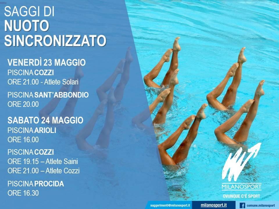 Milanosport gli sport nuoto sincronizzato for Piscina suzzani